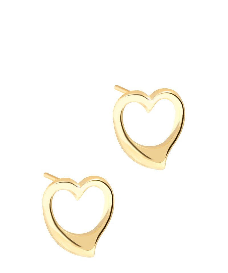 'Edith' 9ct Gold Heart Earrings image 1