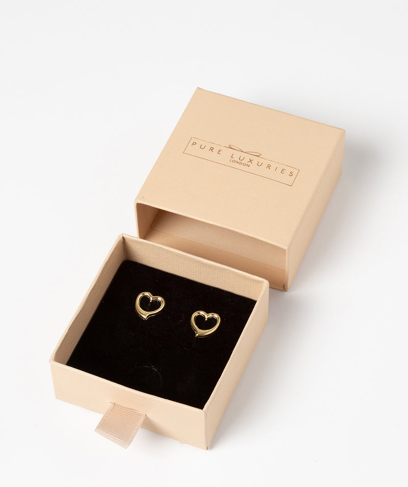 'Edith' 9ct Gold Heart Earrings image 3