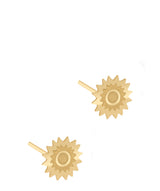 'Evelia' 9ct Yellow Gold Sun Burst Stud Earrings image 1