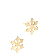 'Benicia' 9ct Gold Snowflake Stud Earrings image 1