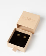 'Benicia' 9ct Gold Snowflake Stud Earrings image 3