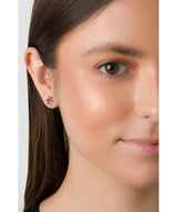 'Benicia' 9ct Gold Snowflake Stud Earrings image 2