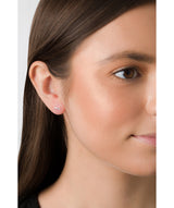 'Jolan' 9ct Gold 2-Tone Infinity Stud Earrings image 2