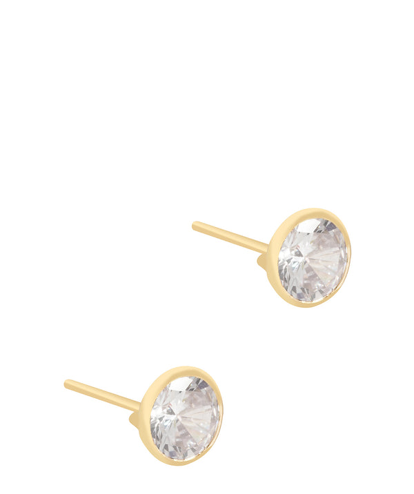'Petra' 9ct Gold Crystal Stud Earrings image 1