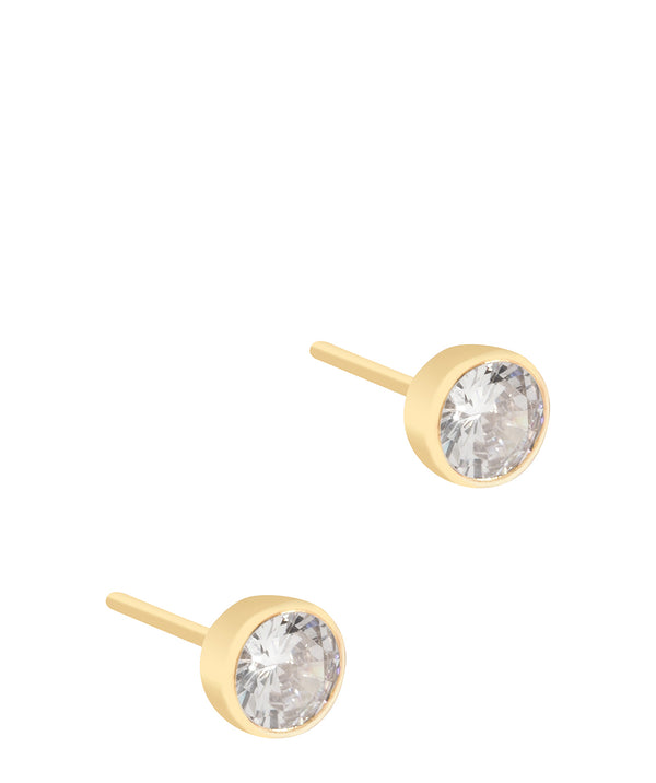 'Jacinda' Round Cubic Zirconia Stud Earrings image 1