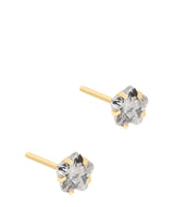 'Rubi' 9ct Gold Cubic Zirconia Flower Stud Earrings image 1