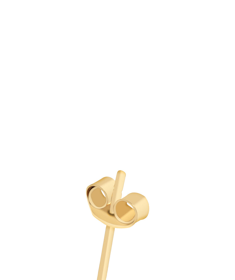 'Rubi' 9ct Gold Cubic Zirconia Flower Stud Earrings image 4