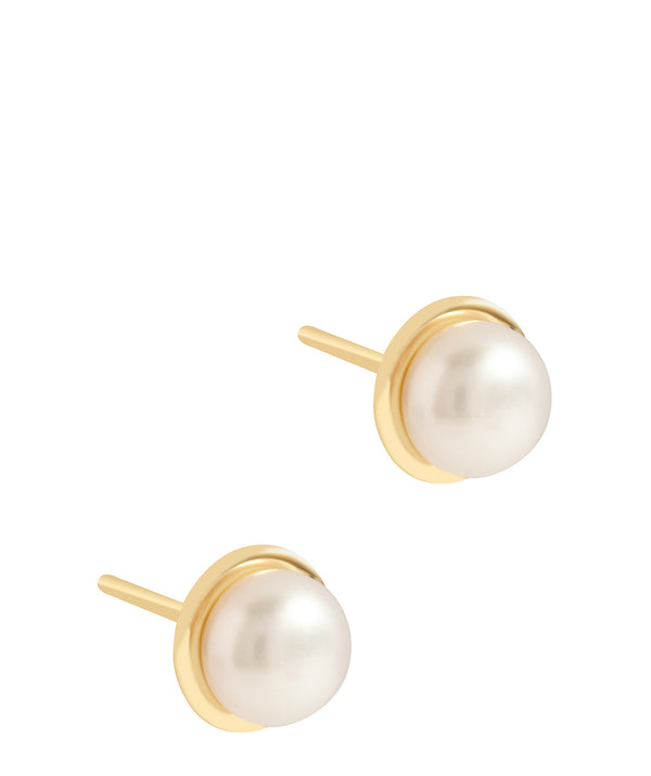 'Pepita' 9ct Gold Pearl Stud Earrings image 1