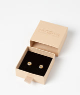 'Amelia' 9ct Yellow and White Gold Knot Stud Earrings image 3