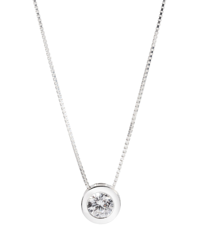 Gift Packaged 'Mania' Sterling Silver and Cubic Zirconia Adjustable Necklace