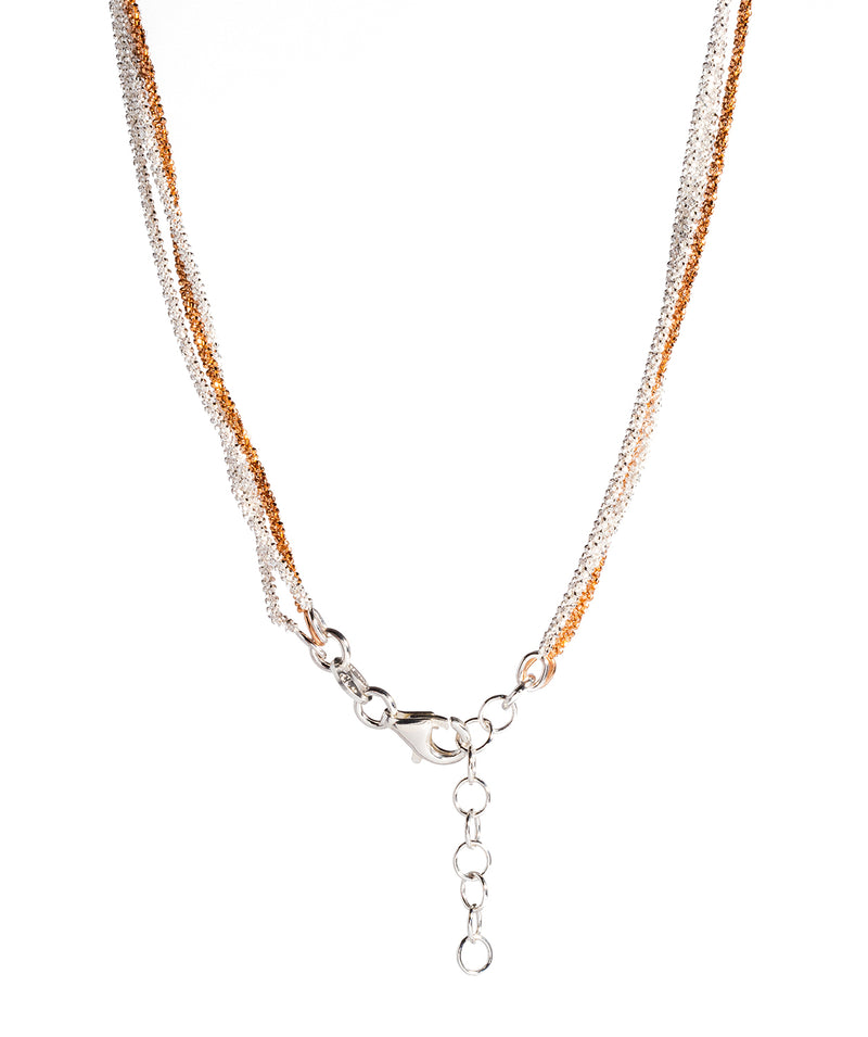 Gift Packaged 'Anthea' Three Strand Rose Gold Plated and Sterling Silver Chain Necklace