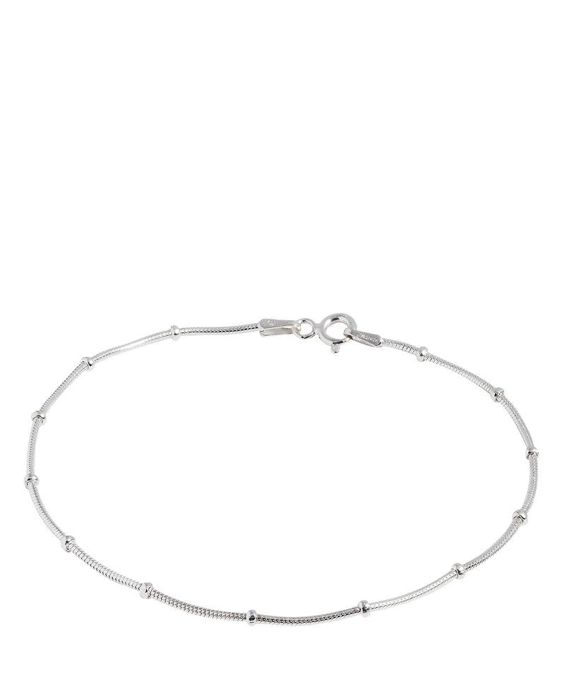 Gift Packaged 'Fidelia' Sterling Silver Smooth Link Bracelet