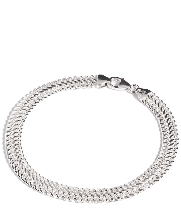 'Brizo' Sterling Silver Double Curb Bracelet Pure Luxuries London