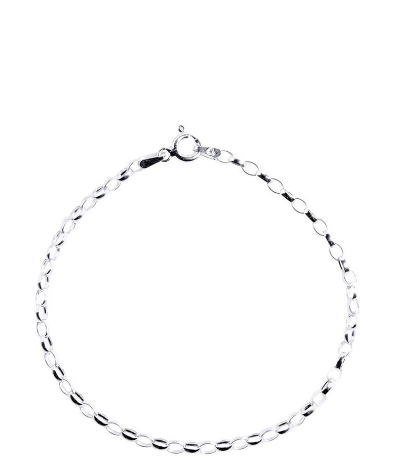 Gift Packaged 'Salud' Sterling Silver Oval Link Bracelet