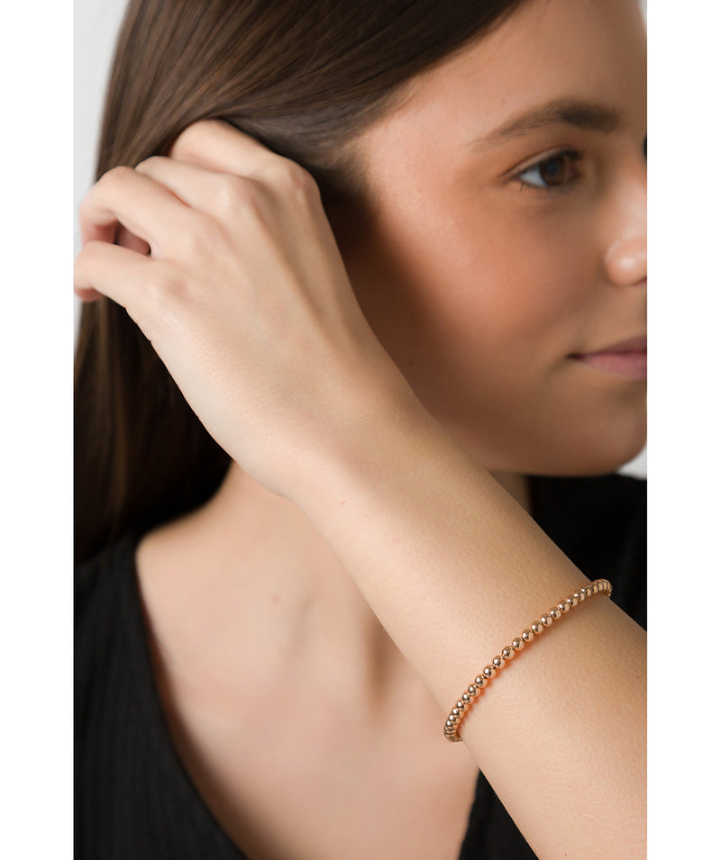 'Cybele' Sterling Silver Rose Gold Plated Bead Bracelet image 2