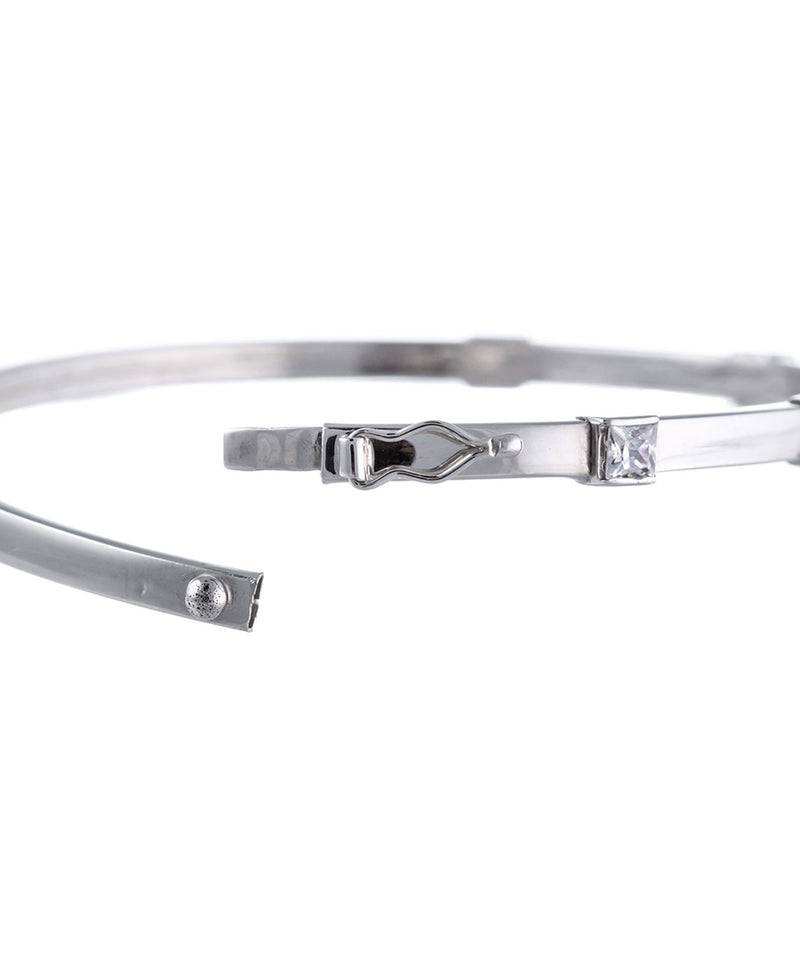 Gift Packaged 'Deysi' Sterling Silver & Cubic Zirconia Bangle