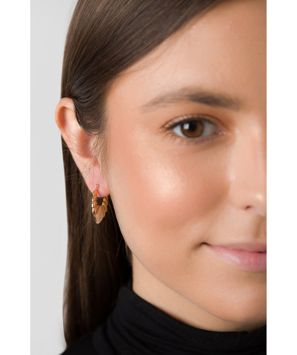 'Hebe' Rose Gold Plated Sterling Silver and Sterling Silver Creole Earrings  image 2