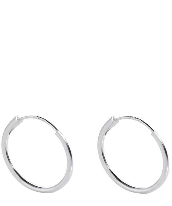 Gift Packaged 'Thera' Sterling Silver Fine Hooped Earrings