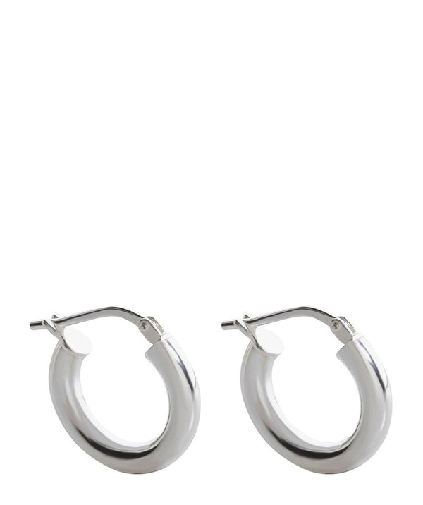 'Sarita' Sterling Silver Hooped Earrings Pure Luxuries London