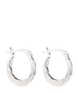 'Abelia' Sterling Silver Twisted Ear Hoops image 1