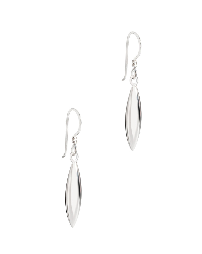 Gift Packaged 'Amphitrite' Sterling Silver Oblong Drop Earrings