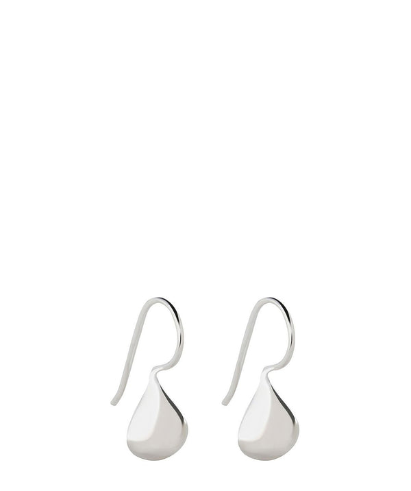 'Idoya' Sterling Silver Water Droplet Earrings Pure Luxuries London