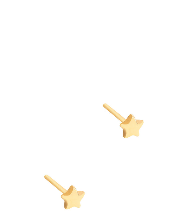 Gift Packaged 'Marigold' Yellow Gold Plated Sterling Silver Star Stud Earrings