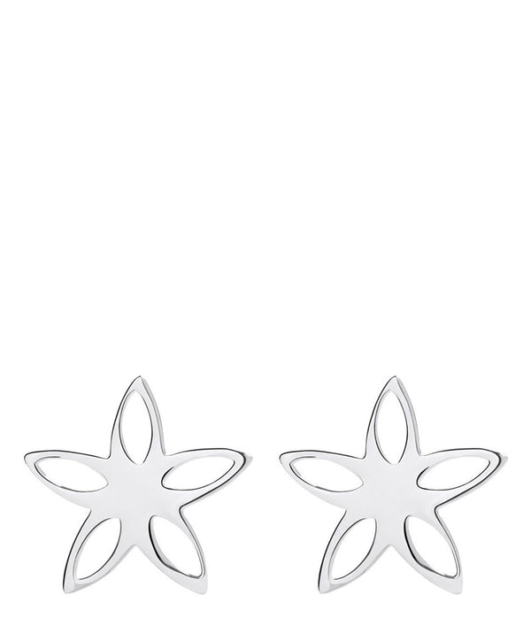 'Giacinta' Sterling Silver Cutout Flower Earrings image 1