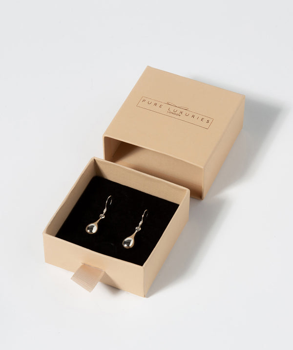 Gift Packaged 'Leanne' Sterling Silver Teardrop Earrings