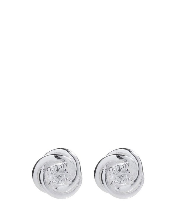 'Abasi' Sterling Silver Knot Stud Earrings image 1