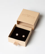 'Erinnyes' Rose Gold Plated Sterling Silver & CZ Stud Earrings image 3