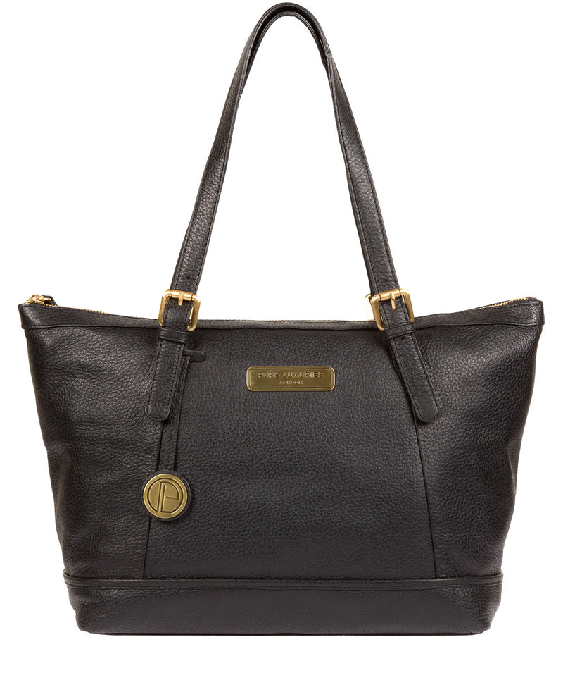 'Truro' Black Quality Leather Tote Bag image 1
