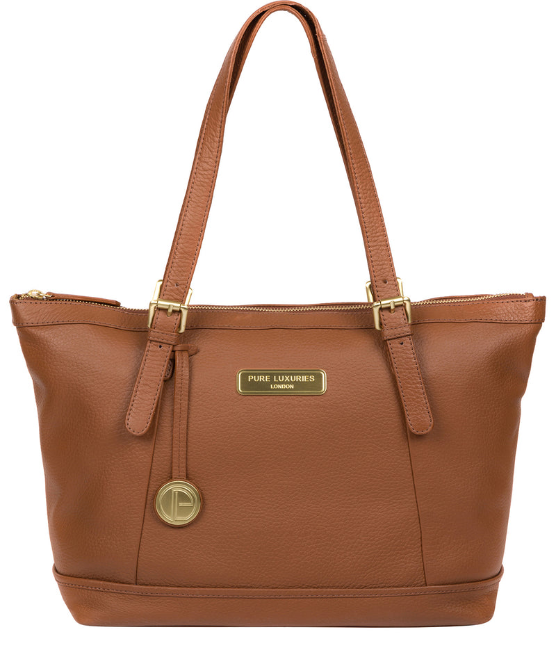 'Truro' Tan Quality Leather Tote Bag image 1