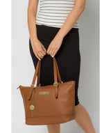 'Truro' Tan Quality Leather Tote Bag image 2