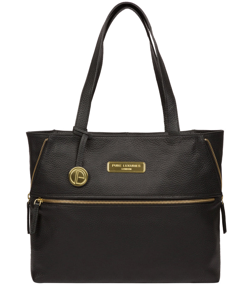 'Skipton' Black Leather Tote Bag image 1