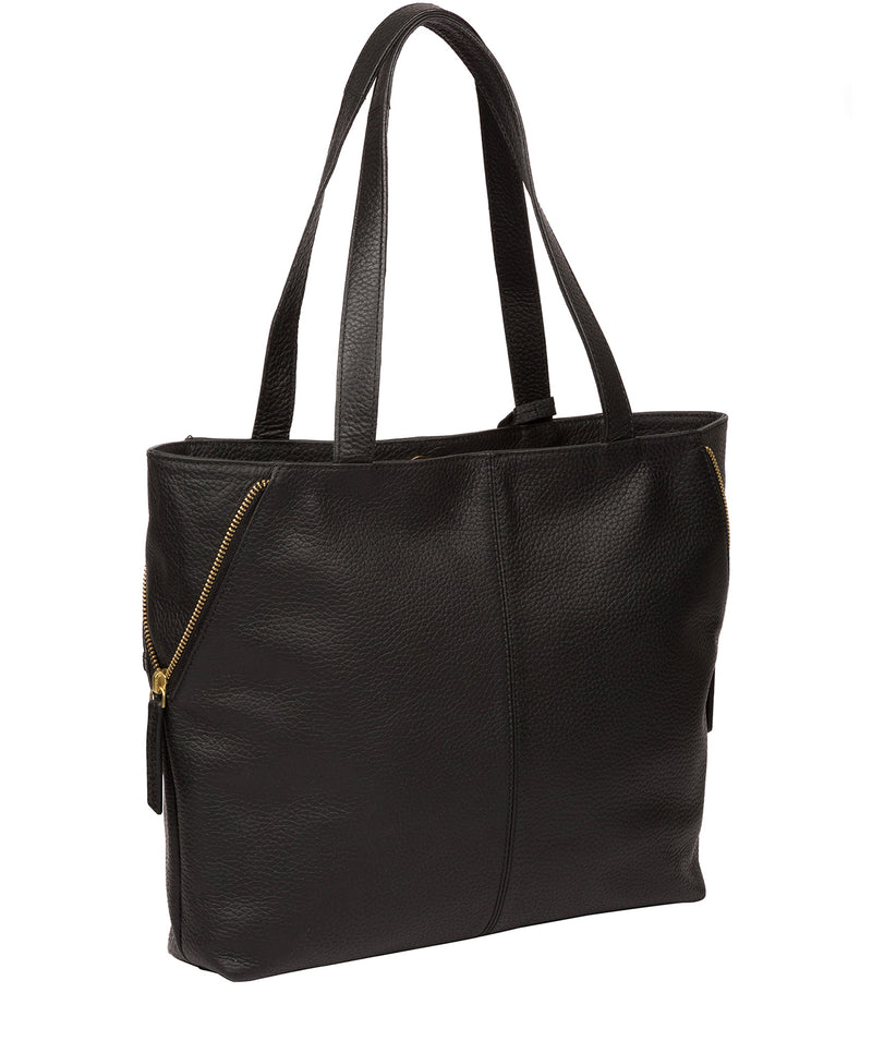 'Skipton' Black Leather Tote Bag image 3