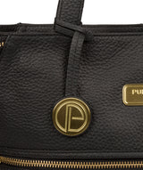 'Skipton' Black Leather Tote Bag Pure Luxuries London