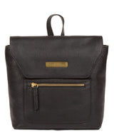'Yeadon' Black Leather Backpack image 1