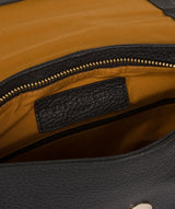 'Yeadon' Black Leather Backpack image 4