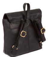 'Yeadon' Black Leather Backpack image 5