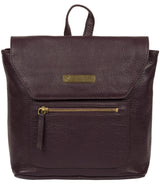 'Yeadon' Plum Leather Backpack image 1