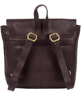 'Yeadon' Plum Leather Backpack image 3