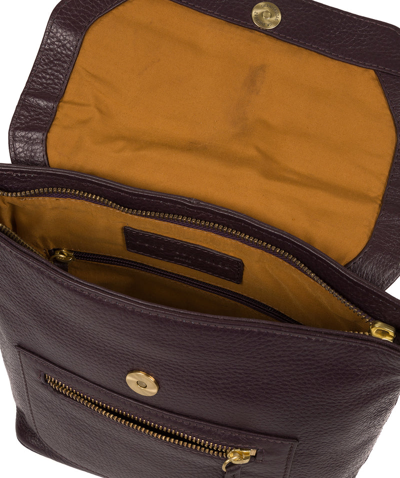 'Yeadon' Plum Leather Backpack image 4