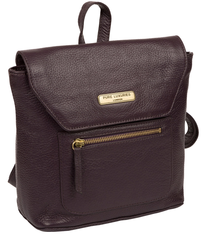 'Yeadon' Plum Leather Backpack image 5