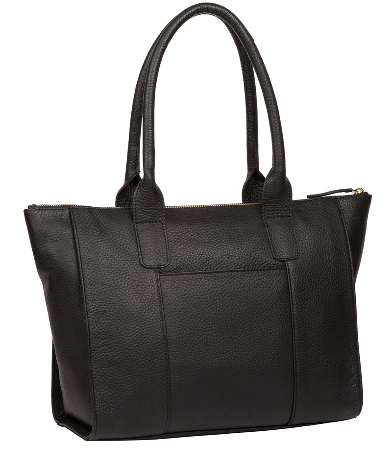 'Yeovil' Black Leather Tote Bag image 3