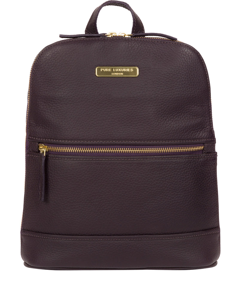 'Ellerton' Plum Leather Backpack image 1