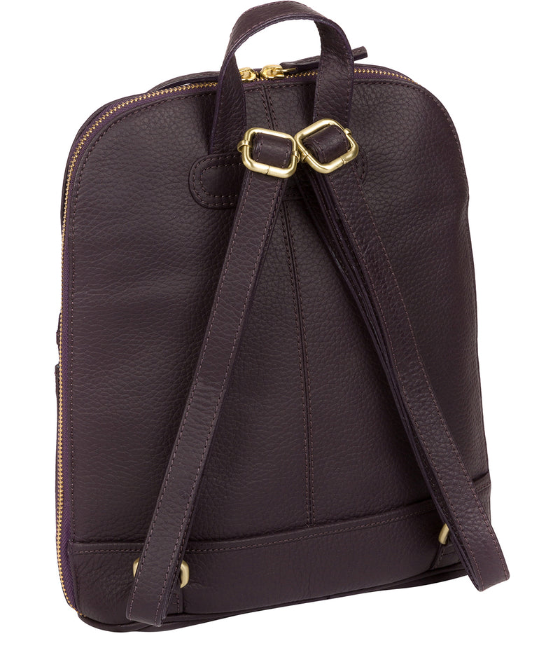 'Ellerton' Plum Leather Backpack image 3
