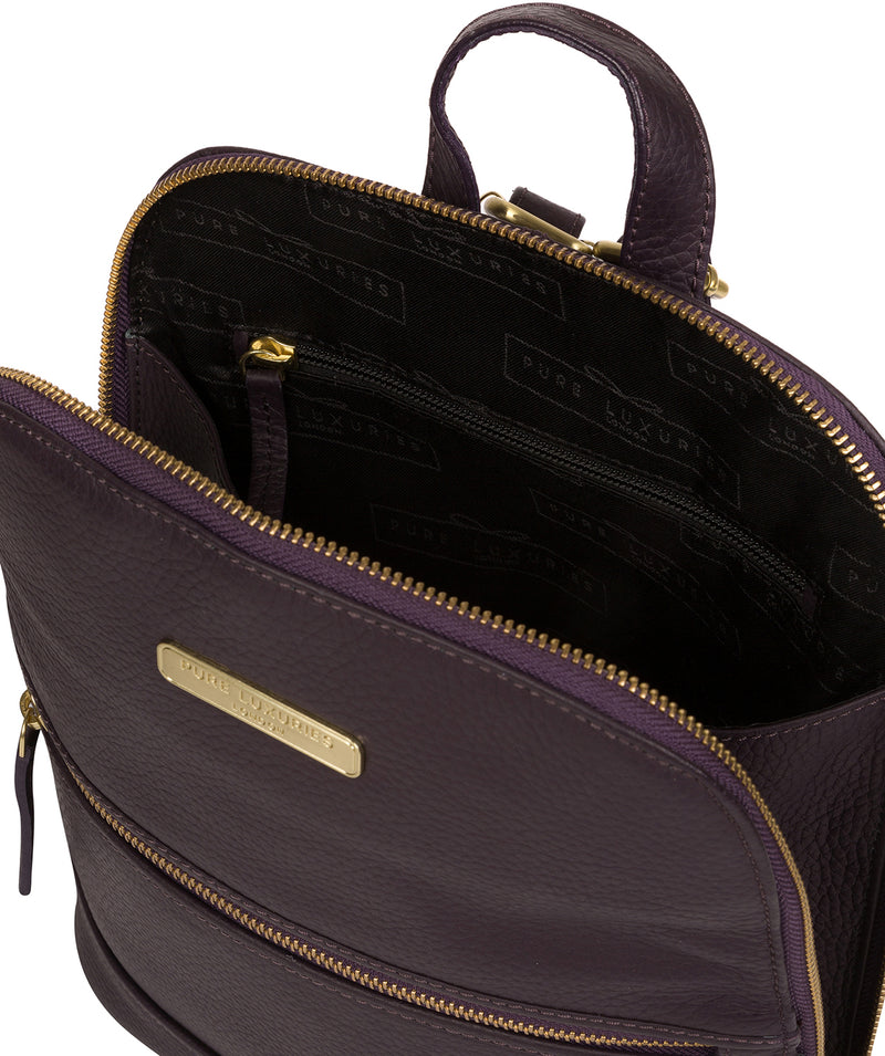 'Ellerton' Plum Leather Backpack image 4