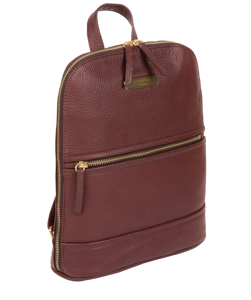 'Ellerton' Port Leather Backpack image 3
