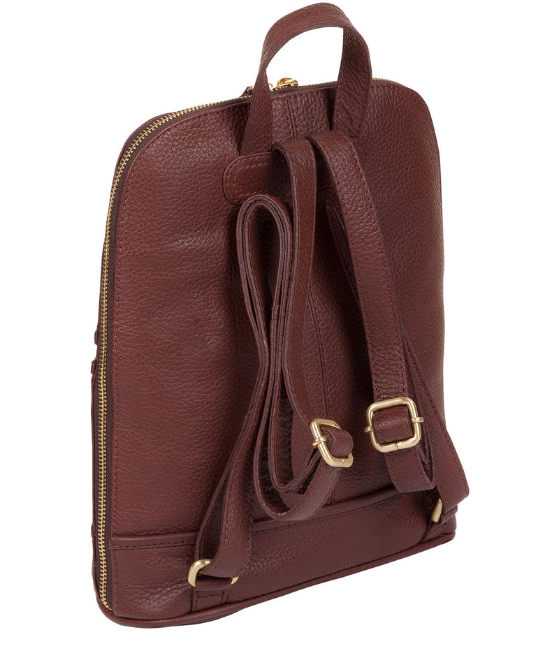 'Ellerton' Port Leather Backpack image 5